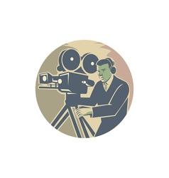 Cameraman Moviemaker Vintage Camera Retro vector image