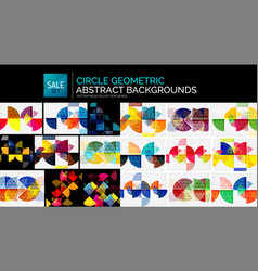 collection of geometric abstract backgrounds vector image