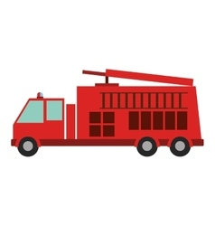 Color silhouette with fire truck vector