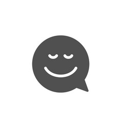 comic speech bubble with smile simple icon vector image