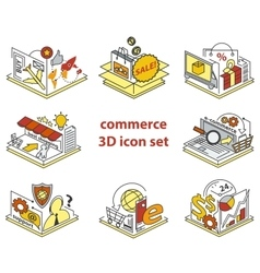 Commerce icon set vector