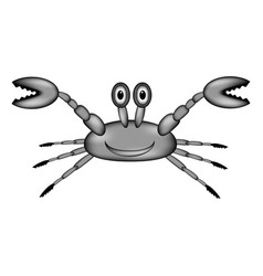 crab sign icon vector image