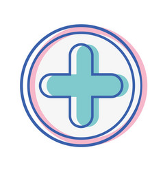 Cross medicine symbol to help the people vector