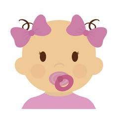 cute baby girl icon vector image