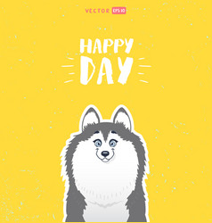 cute husky vector image