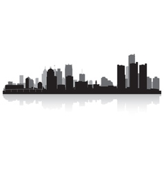 Detroit USA city skyline silhouette vector