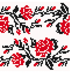 Ethnic ukrainian broidery vector