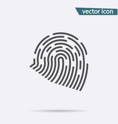 fingerprint icon flat identiti symbol isol vector image