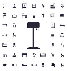 Floor lamp icon vector