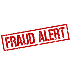 Fraud alert stamp vector
