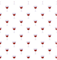 Glass of wine pattern vector