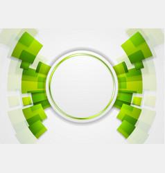 Green shiny hi-tech background vector