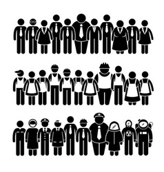 Group people worker from different profession vector