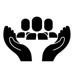 Hands and business people vector