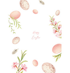 Happy easter watercolor hand painted vector