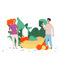 healthy food concept vegan lifestyle vector image