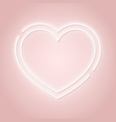 heart neon sign happy valentines day pink vector image