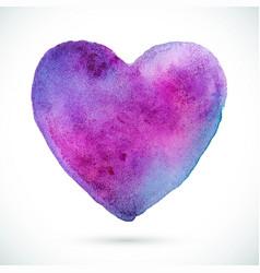 heart-violet-blue vector image