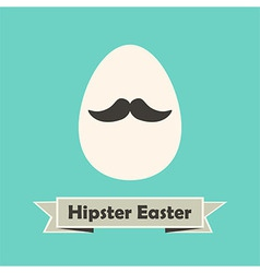 Hipster Easter Holiday Greeting Card with Egg with vector