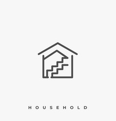 house mold template vector image