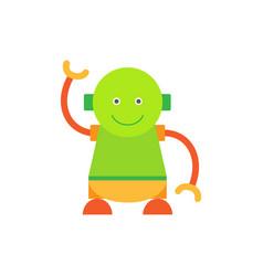 Humanoid smiling and waving vector