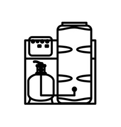 icon water purification system vector image