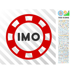 Imo token flat icon with bonus vector
