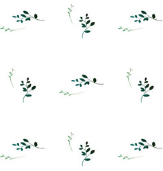 leaves pattern endless background seamless vector image