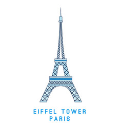 line art eiffel tower paris symbol european vector image