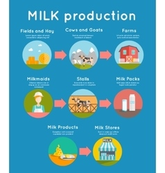 Milk flat concept vector