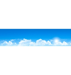 Nature background with blue sky and clouds vector