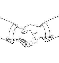 partneship sketch handshake vector image