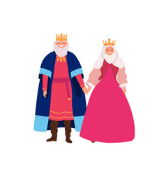 Royal family flat smiling vector
