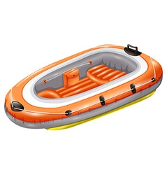 Rubber boat vector