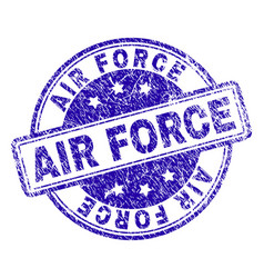 Scratched textured air force stamp seal vector