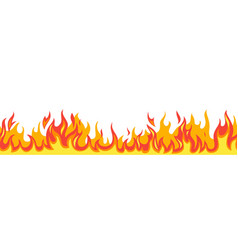 Seamless fire flame flaming pattern flammable vector
