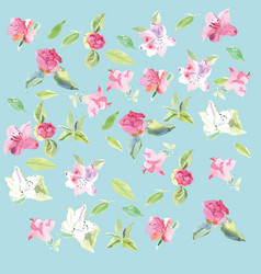 seamless pattern camelia flower vector image