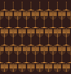 seamless pattern with symbols of hanukkah vector image