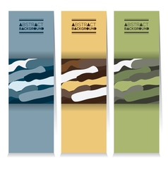 Set Of Three Abstract Camouflage Vertical Banners vector