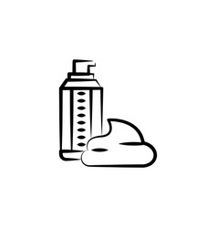 Shaving foam icon element anti aging icon vector