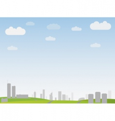 simple city landscape vector image