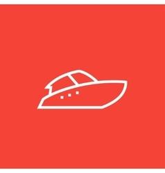 Speedboat line icon vector