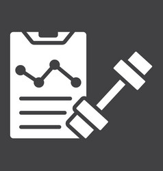 Sport training program glyph icon fitness vector