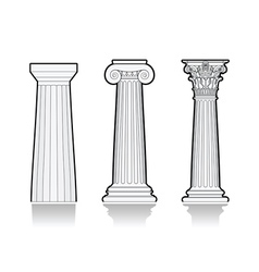Stylized Greek columns vector