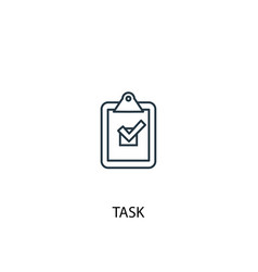 Task concept line icon simple element vector