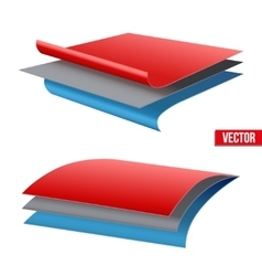 Technical of a three-layer fabric vector