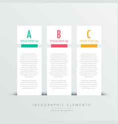Three vertical banners infographic design template vector