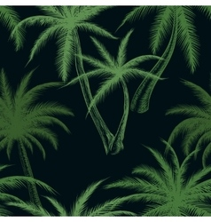 Tropical palm trees leaf pattern vector