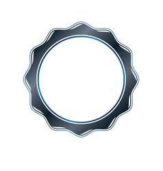 Victorian art circular frame with blank copy vector