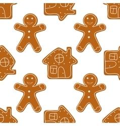 Gingerbread Cookies seamless vector image